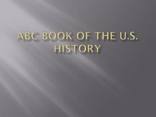ABC Book of the U.S. History