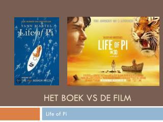Het boek  vs  de film