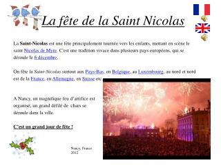 La fête de la Saint Nicolas