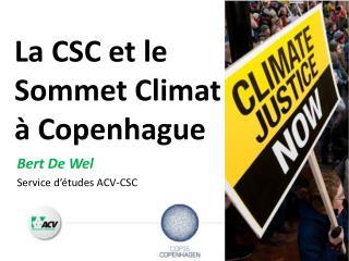 La CSC et le Sommet Climat à Copenhague