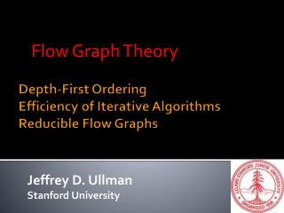 Depth-First Ordering Efficiency of Iterative Algorithms Reducible Flow Graphs
