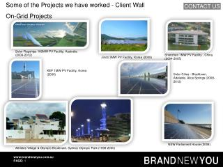 Some of the Projects we have worked - Client Wall On-Grid Projects