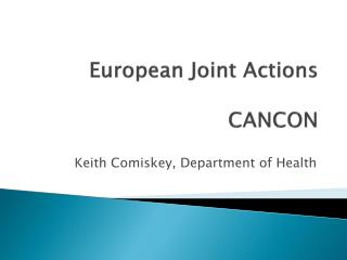 European Joint Actions CANCON