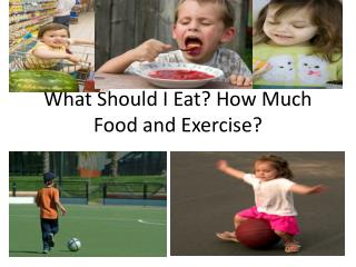 What Should I Eat? How Much Food and Exercise?