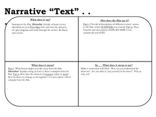 "Narrative ""Text"" . . ."