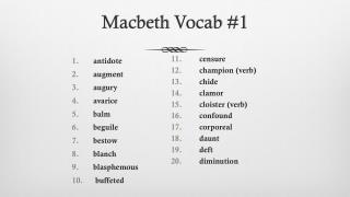 Macbeth  Vocab  #1
