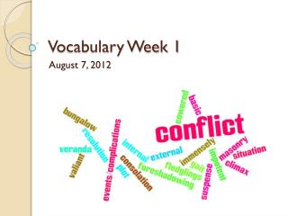 Vocabulary Week 1