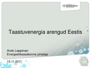 Taastuvenergia arengud Eestis