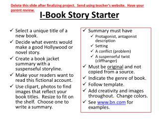 I-Book Story Starter