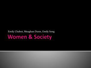 Women & Society