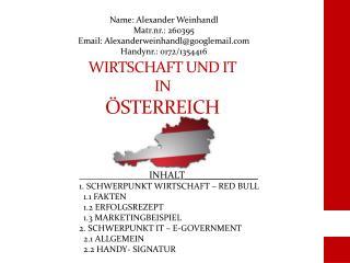 WIRTSCHAFT UND IT IN ÖSTERREICH