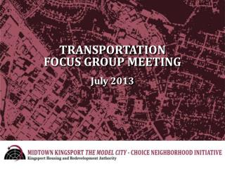 TRANSPORTATION FOCUS GROUP MEETING July 2013