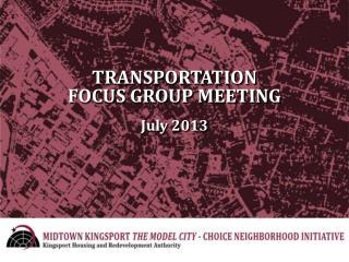 TRANSPORTATION FOCUS GROUP MEETING July 2013