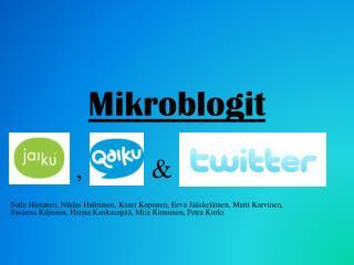 Mikroblogit