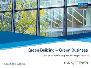 Green Building � Green Business