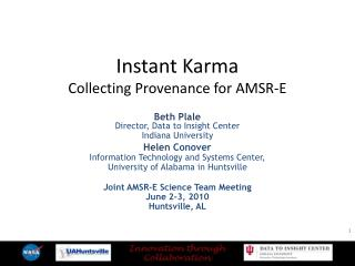 Instant Karma Collecting Provenance for AMSR-E