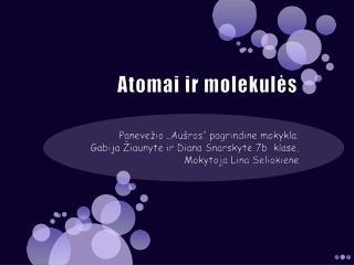 Atomai ir molekulės