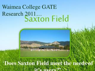 Saxton Field