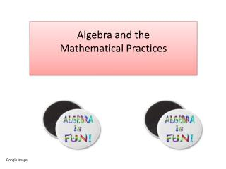 Algebra and the Mathematical  Practices