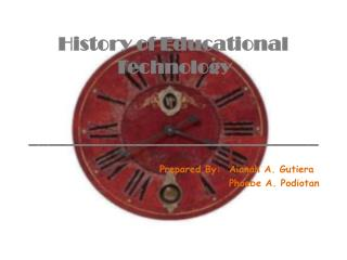 History of Educational Technology ______________________________
