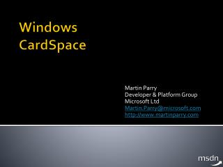 Windows CardSpace