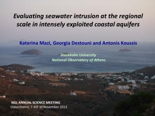 Evaluating seawater intrusion at the  regional scale  in intensely exploited coastal aquifers