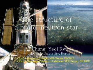 The structure of  a proto-neutron star