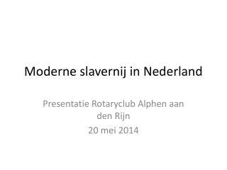 Moderne slavernij in Nederland