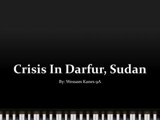 Crisis In Darfur, Sudan