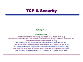 TCP & Security