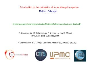 Introduction to the calculation of X-ray absorption spectra