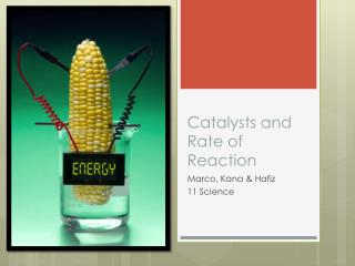 Catalysts and Rate of Reaction