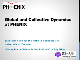 Global and Collective Dynamics at PHENIX