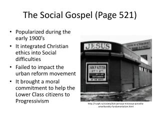 The Social Gospel (Page 521)