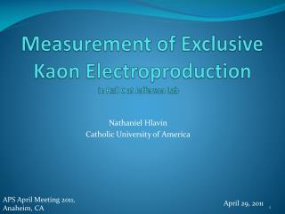 Measurement of Exclusive Kaon  Electroproduction