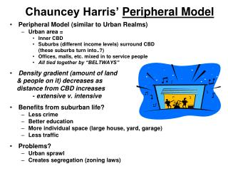 Chauncey Harris'  Peripheral Model