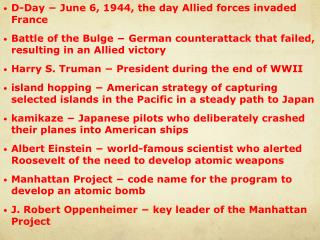 D-Day ? June 6, 1944, the day Allied forces invaded France