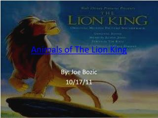 Animals of The Lion King