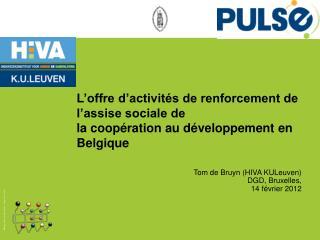 Tom de Bruyn (HIVA  KULeuven ) DGD,  Bruxelles ,  14  février  2012