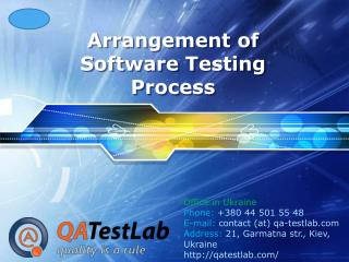 Arrangement of Software Testing Process