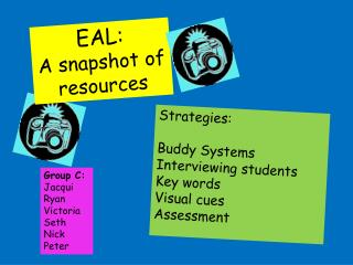 EAL:  A snapshot of resources