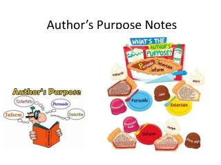 Author�s Purpose Notes