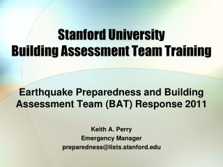 Stanford University Building Assessment Team Training