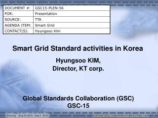 Smart Grid Standard activities in Korea
