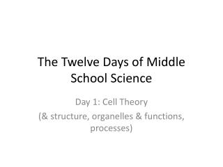 The Twelve Days of Middle School Science