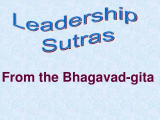 Leadership  Sutras