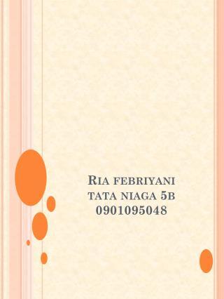 Ria febriyani tata niaga  5b 0901095048