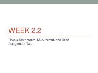 Week 2.2