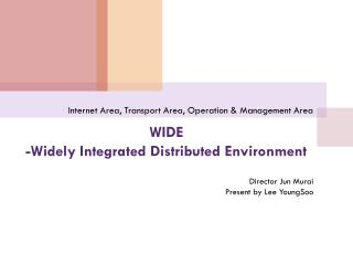 WIDE  -Widely Integrated Distributed Environment
