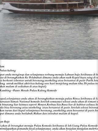 Paket Wisata pulau Komodo 4 hari 3 malam Hari 1 : Bali – Labuan Bajo- Bidadari- Pulau kalong